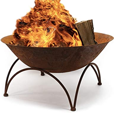 Cuenco fuego V5 Brasero Bol Recipiente quemar Hoguera Fogata Jardín Terraza Exterior Ambiente Noche: Amazon.es: Alimentación y bebidas