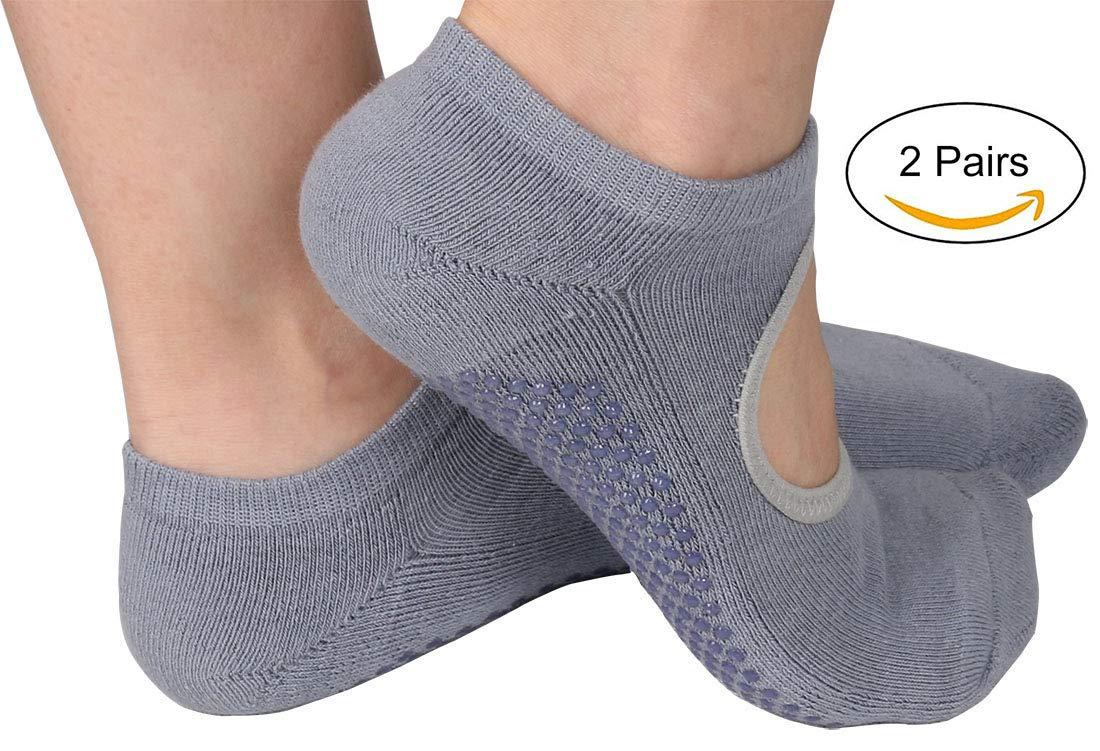 Calcetines de algod/ón Antideslizantes peque/ños para Yoga y Pilates Dance Fitness para Mujer Talla S para EU 33-36