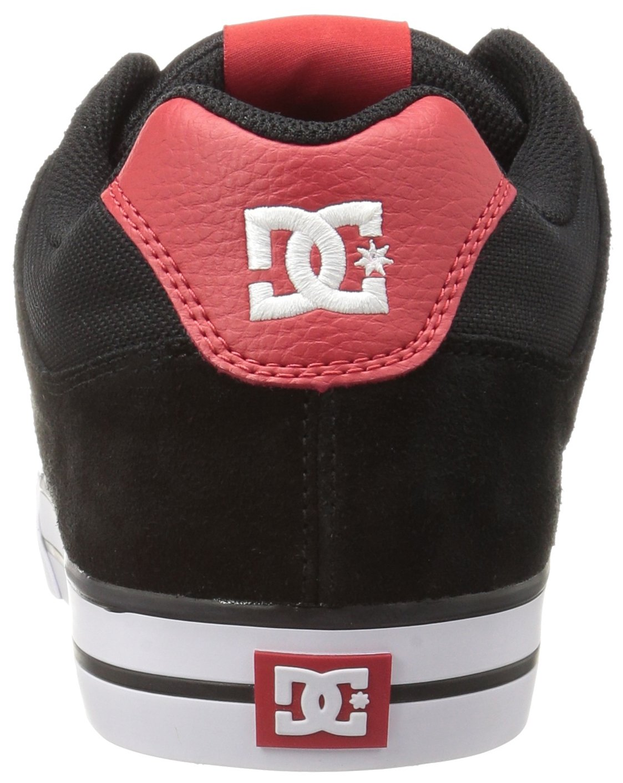 DC Shoes Mens Shoes Pure - Shoes - Men - 9.5 - Black Black/Athletic Red 9.5 by DC (Image #2)