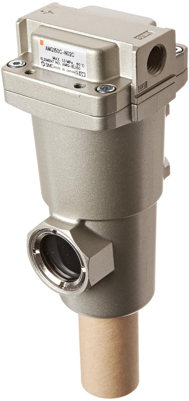 SMC AMG150C-N02C Water Separator, N.C. Auto Drain, 300 L/min, 1/4' NPT 1/4 NPT