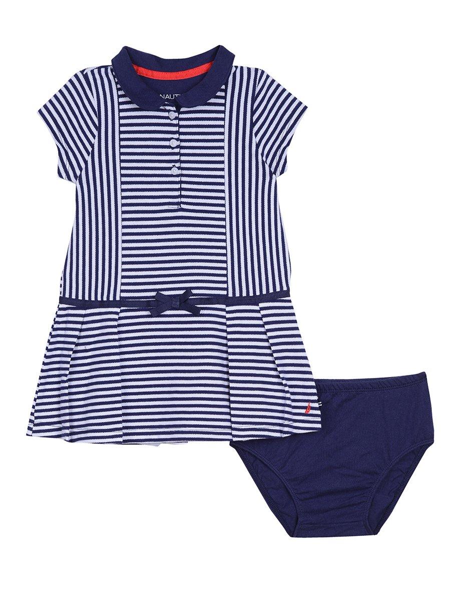 Nautica Bab Baby Girls' Newborn Shawl Collar Pique
