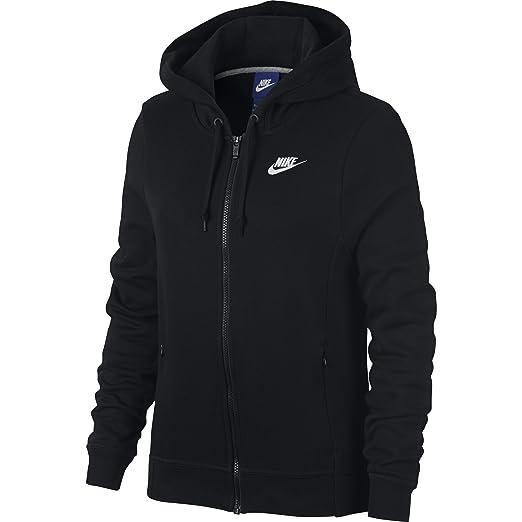 3bdc5d23d0 NIKE Sportswear Women's Full Zip Hoodie, Black/Black/Black/White, X