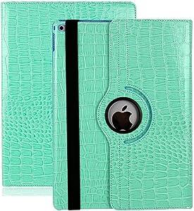 Xiaoai Apple iPad 2 / iPad 3 / iPad 4 9.7 inch Case,360 Degrees Rotating Multi Angles Screen Protective Stand with Auto Sleep/Wake Smart Cover (Blue)