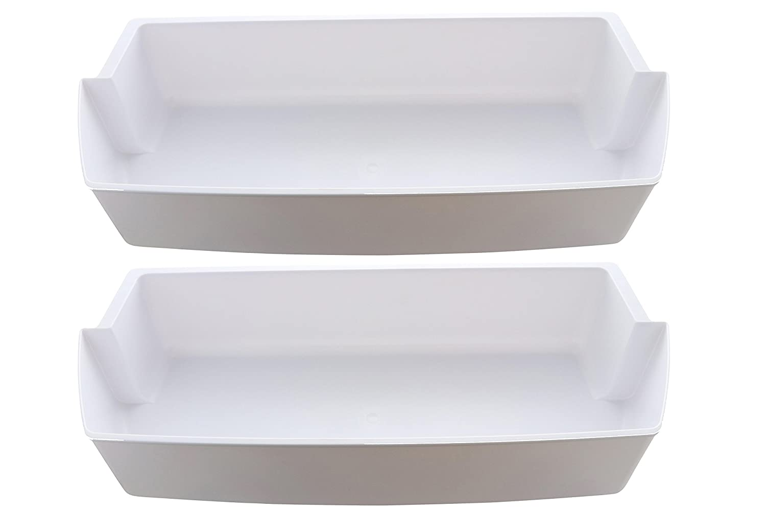2-Pack Door Shelf Bins 2187172 Replacement for Frigidaire Whirlpool Kenmore Refrigerator PS328468