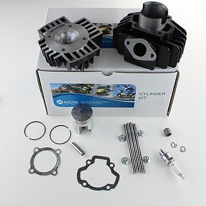 NICHE Cylinder Piston Gasket Cylinder Head Kit for Yamaha PW50 60cc Big  Bore 1981-2018