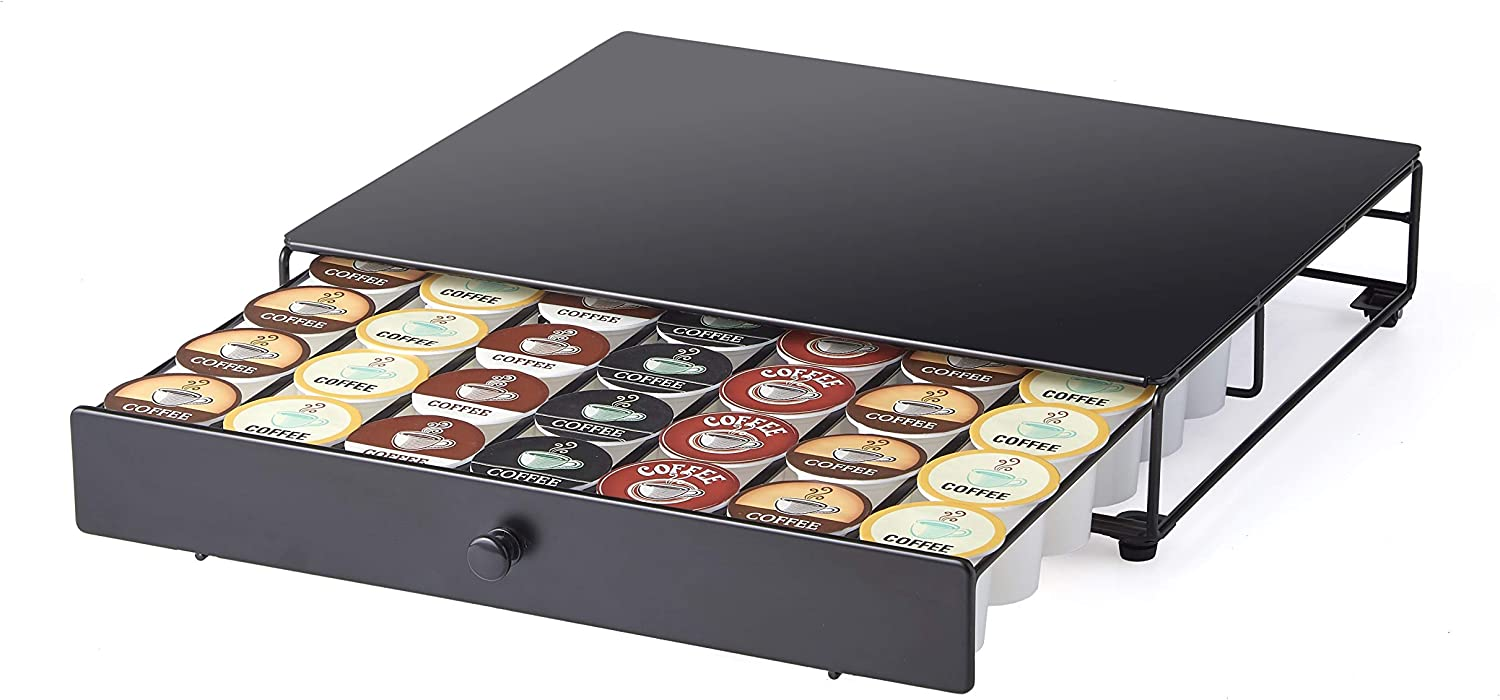 Nifty Under the Brewer Coffee Pod Storage Rolling Drawer for K-Cup. Holds 42 Coffee Pods