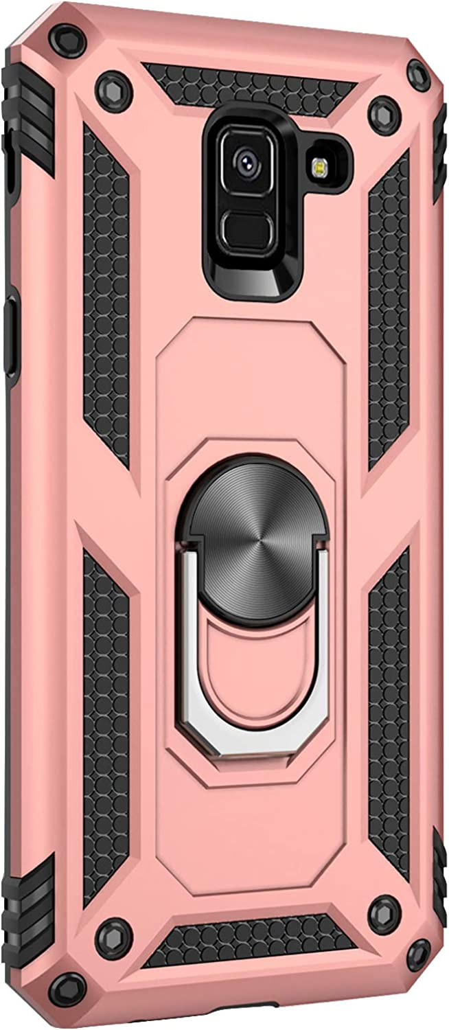 for Samsung Galaxy A8 2018 case Hard Shell Military Duty Protective Cover with Holder 360/° Ring Cases for Magnetic Car Mount