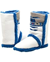 Official Womens Star Wars R2-D2 Boot Slippers Pull On Boots - Various Sizes