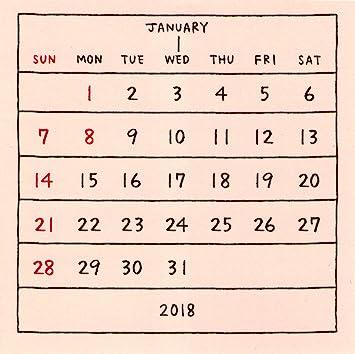 amazon もだ 2018年 basic calendar cd 0964 カレンダー 文房具