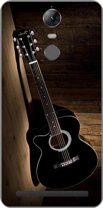Shengshou Guitar Design Mobile Back Cover for Lenovo Vibe K5 Note 2017   Black Brown
