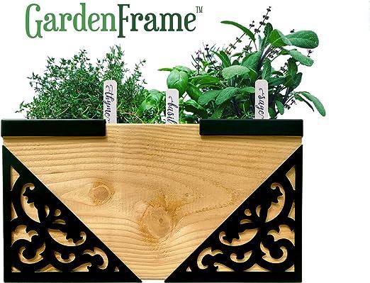 GardenFrame - Juego de Cama de jardín Victoriana elevada, macetas Grandes para Exteriores, Maceta para Flores, jardín de Verduras, jardín de Hierbas, Maceta: Amazon.es: Jardín
