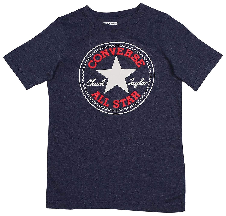 Converse Boys Chuck Taylor All Star Logo Tee T Shirt (Navy