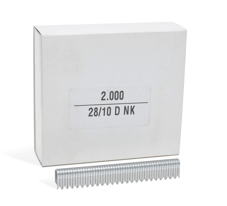 Rundh/ölzer 2.000 Rundklammern zur Befestigung von Drahtgeflecht REGUR Typ 28 Bogenklammern verzinkt in der L/änge 28//12 mm Kabeln