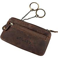 """STILORD """"Theo"""" läder nyckelväska för män vintage nyckelfodral hållare med ring smal myntväska kontanter byt plånbok…"""
