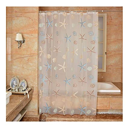 Ufatansy Uforme Extra Long PVC Free Bathroom Liner Environmentally Non Toxic Shower Curtain PEVA
