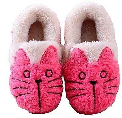 Winter Women/Kids Family Cute Cat Warm House Slippers Booties