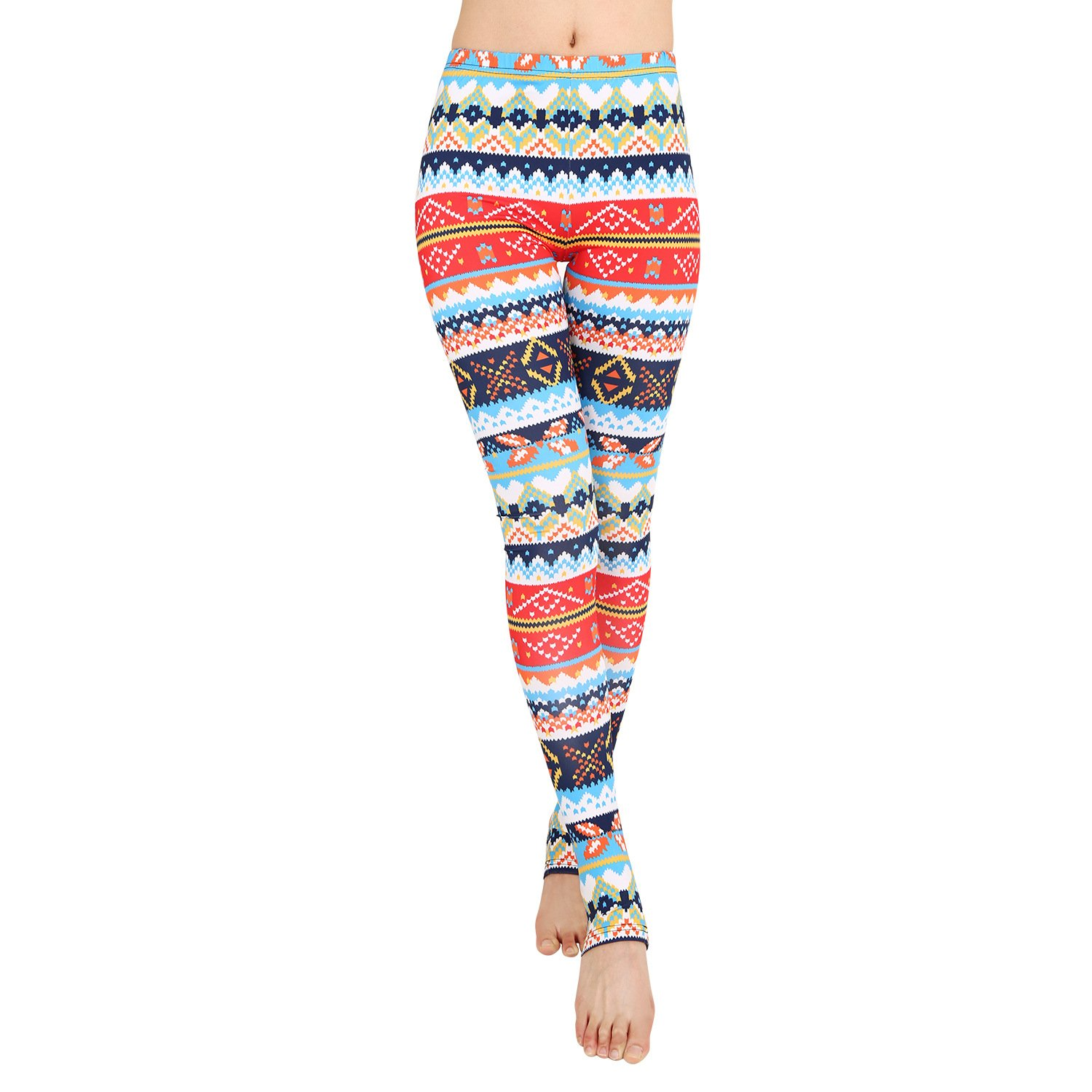 bf76d49609dcfe Kinikiss High Waisted Stirrup Yoga Legging Pants for Women Christmas  Outfits with Tribal Aztec Pattern: Amazon.co.uk: Clothing