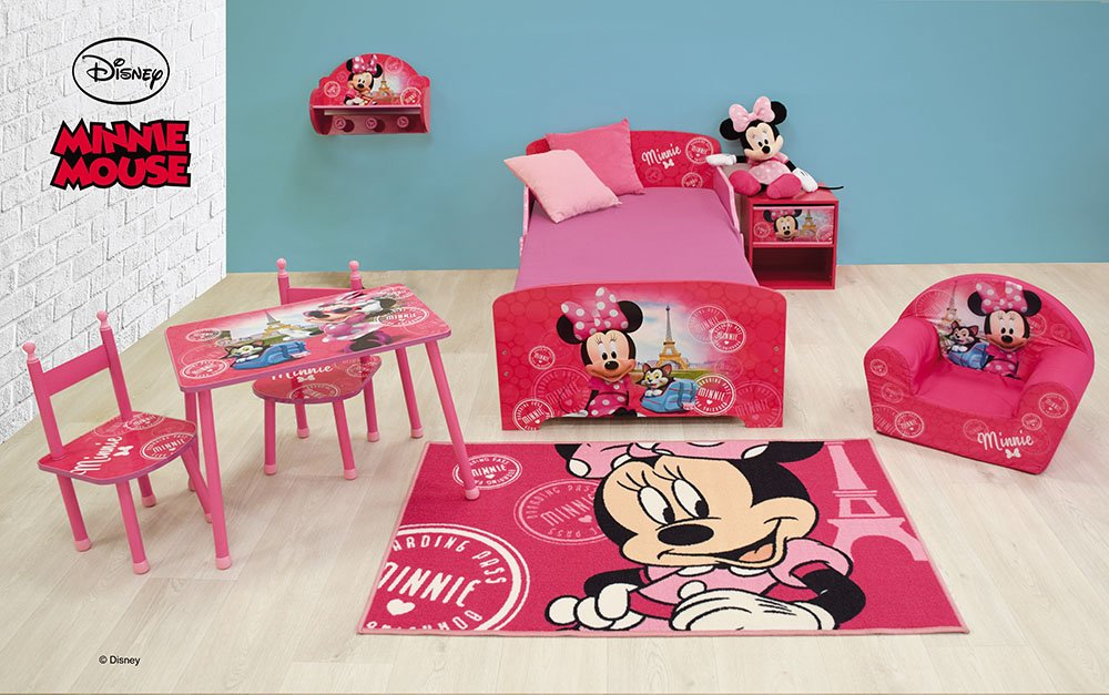 Polyamide//SBR,//Latex et Caoutchouc 80 x 150 cm FUN HOUSE Disney Minnie Tapis pour Enfant