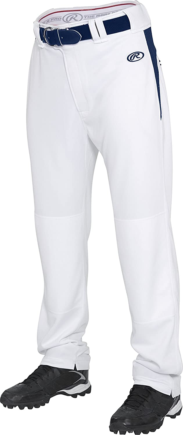 Rawlings Youth semi-relaxedパンツwithウエスト挿入 B013I2IXDM X-Small|ホワイト/ネイビー ホワイト/ネイビー X-Small