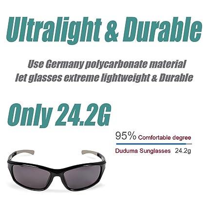 7757b086dd Duduma Polarized Sports Sunglasses for Baseball Running Cycling Fishing  Golf Tr90 Unbreakable Frame (black black)