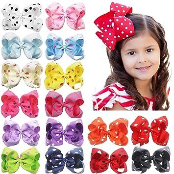 Kleidung, Schuhe & Accessoires Haarschmuck 8-5 Big Hair Bows Boutique Girls Baby Toddler Alligator Clip Grosgrain Ribbon