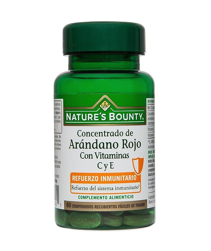 Natures Bounty, Concentrado de Arándano Rojo con Vitaminas C y E, 60 Comprimidos: Amazon.es: Salud y cuidado personal