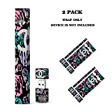 Juul Skin 2 Pack Juul Vinyl Decal Wrap Stickers for Juul Vape Device and Charger Protection Skin Cover Durable and Unique Styles