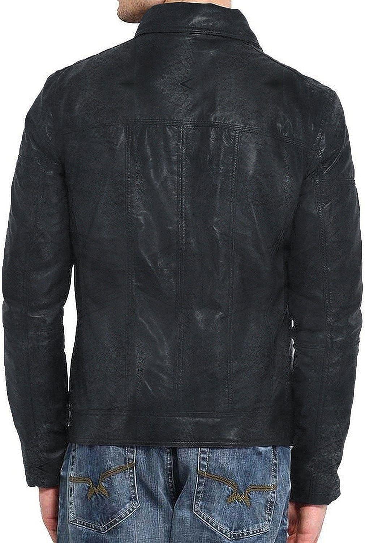 Laverapelle Mens Genuine Lambskin Leather Jacket Black, Regal Jacket 1501205
