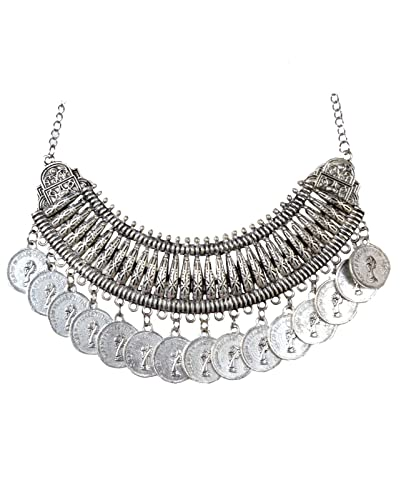 d5a5799554 Buy Handmadewale Traditional Oxidised Jewellery Sets for Women Silver  Jewellery Necklace 2019 Online at Low Prices in India | Amazon Jewellery  Store ...
