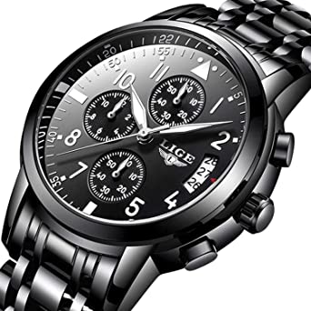 af02a3cdaa4 Men Business Watch Chronograph Clock Brand Luxury Fashion Casual Sport  Waterproof Quartz Wrist Watch