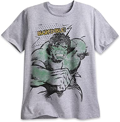 Amazon Com Marvel The Incredible Hulk T Shirt For Men Gray Clothing