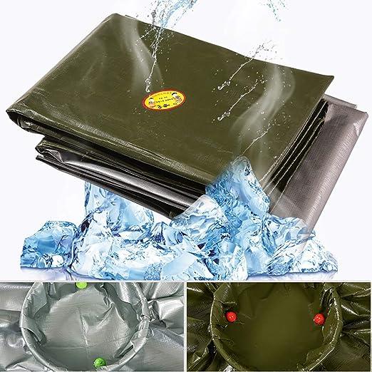 WCS Lluvia Gruesa Poncho Plástico Impermeable Lona Protección Solar Aislamiento al Aire Libre Lona Transporte Transporte a Prueba de Lluvia Protección del ...