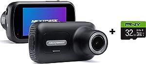 """Nextbase 322GW Dash Cam 2.5"""" HD 1080p Touch Screen Car Dashboard Camera, Quicklink WiFi, GPS, Emergency SOS, Wireless, Black + PNY Elite-X 32GB U3 microSDHC Card (Bundle)"""