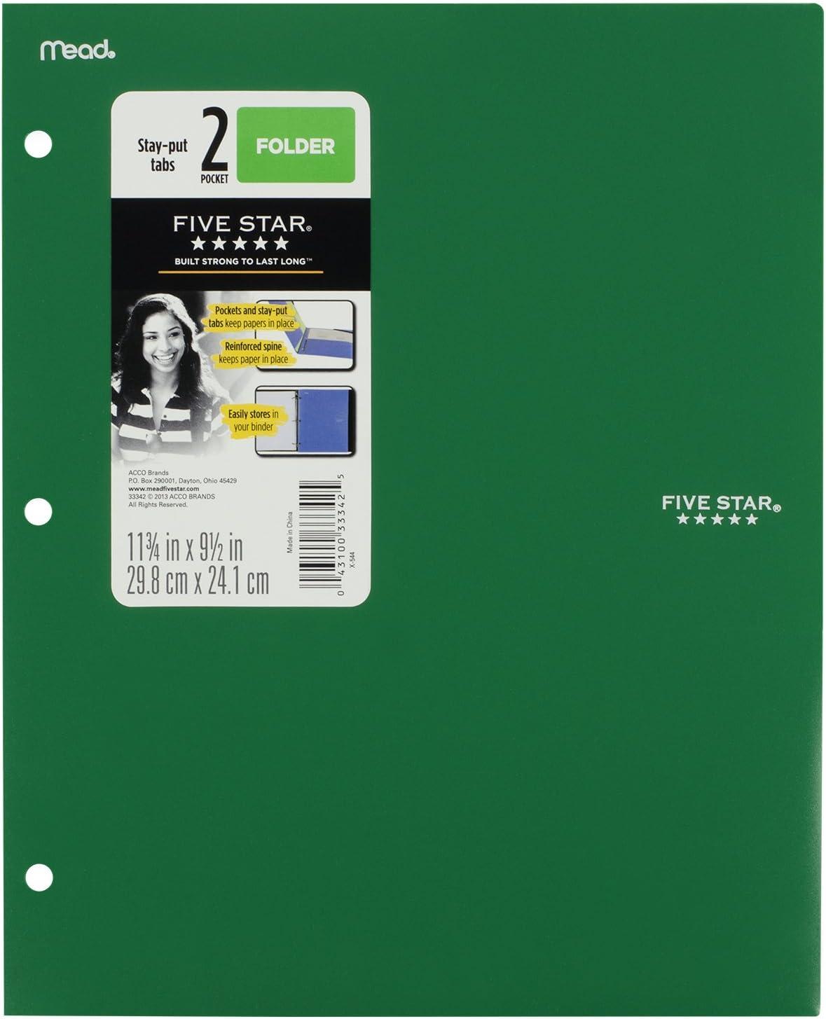 Plastic 2 Pocket Folders Assorted Color