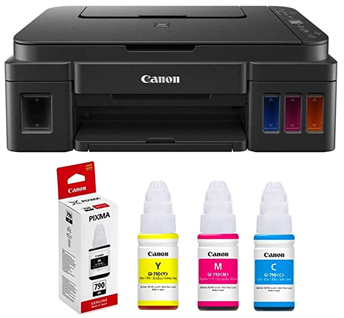 Canon G3010 All in One Ink Tank Colour Printer with Ink Bottles Ink Cartridges