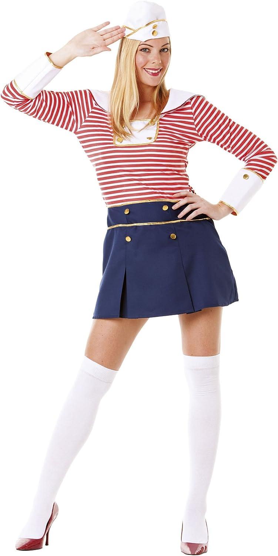 Hilka Cesar B373-002 - Disfraz de marinera para mujer, talla 36/38 ...