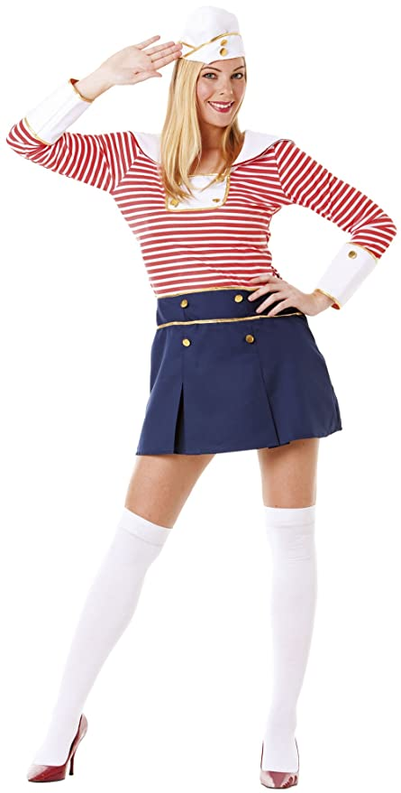 Hilka Cesar B373-002 - Disfraz de marinera para mujer, talla ...