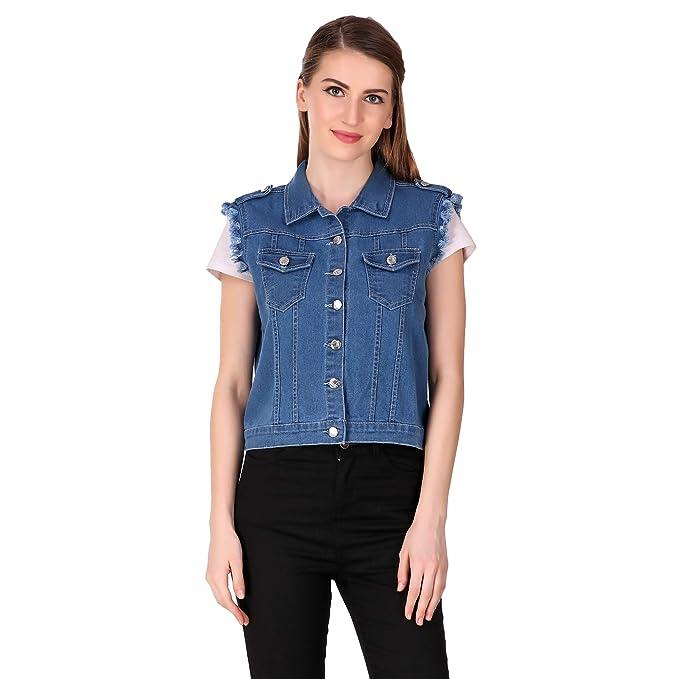 dc23704dc77 Girls Shopping Sleeveless Denim Jacket for Women   Girls
