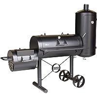 Grill El Fuego Kiona XXL schwarz Grill günstig kaufen Garten ✔ Rollen ✔ Deckel ✔ rund ✔ rollbar ✔ stehend grillen ✔ Grillen mit Holzkohle ✔ mit Station ✔ mit Rädern