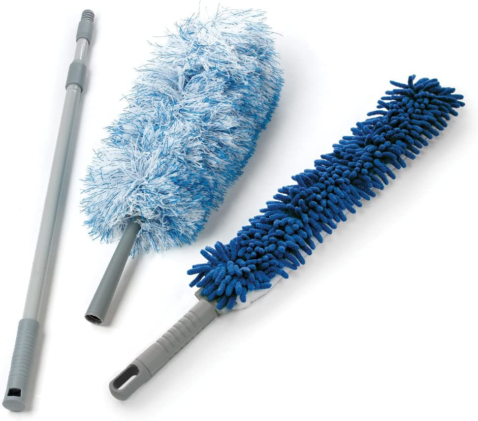O-Cedar Dual-Action Microfiber Duster Set