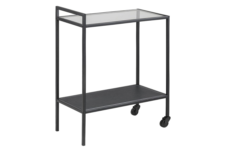 AC Design Furniture Servierwagen Jörn, B  60 60 60 x T 30 x H  75 cm, Glas, Schwarz 43d591