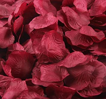 Amazon balsacircle 4000 silk rose artificial petals supplies balsacircle 4000 silk rose artificial petals supplies wedding decorations burgundy junglespirit Images