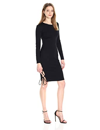 2a99281369e9a findersKEEPERS Women's Weston Longsleeve lace up Fitted Sheath Dress:  Amazon.in: Clothing & Accessories