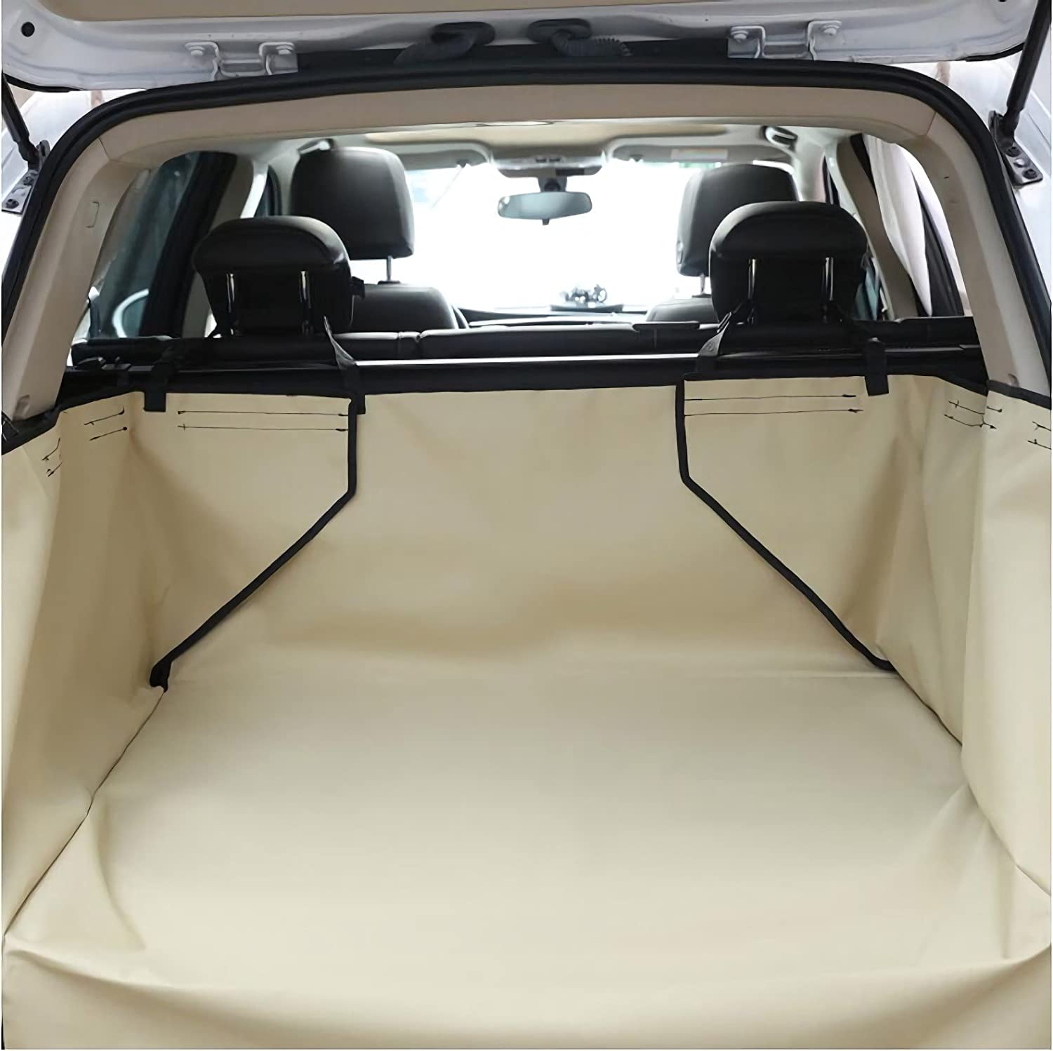 Beige 130 65533;100 _43cmOxfordPet Dog Trunk Car Liner Car SUV Van Seat Cover Water Floor Mat for Dogs Cats Wasable Dog Accessories 130 2155100;215cm