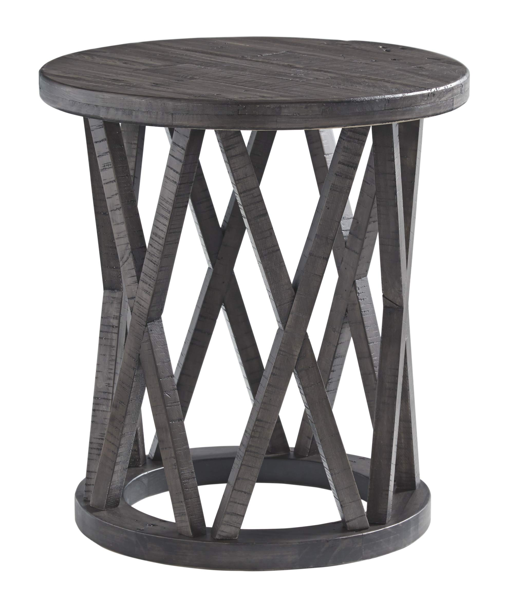 Signature Design by Ashley Sharzane Round End Table Grayish Brown by Signature Design by Ashley