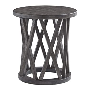 Signature Design by Ashley T711-6 Sharzane Round End Table Grayish Brown
