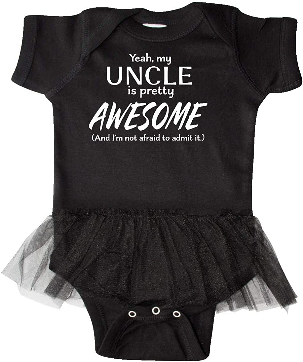 Inktastic Yeah My Uncle Is Pretty Awesome Infant Tutu Bodysuit