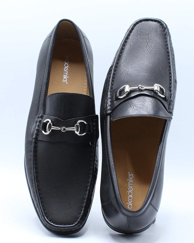 Black AKADEMIKS Mens Bit Loafer Shoe