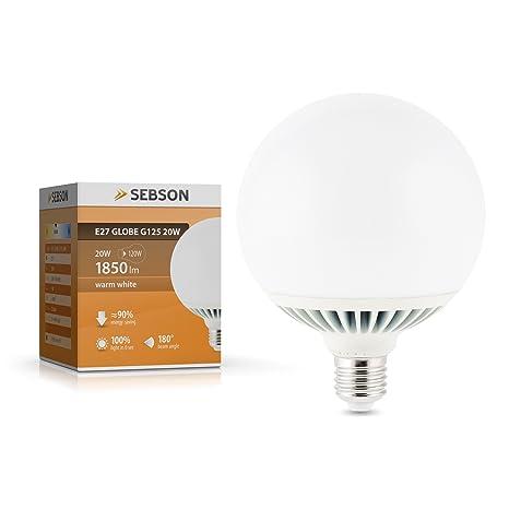 SEBSON – Bombilla LED (E27, 20 W, color blanco cálido reemplazar 120 W