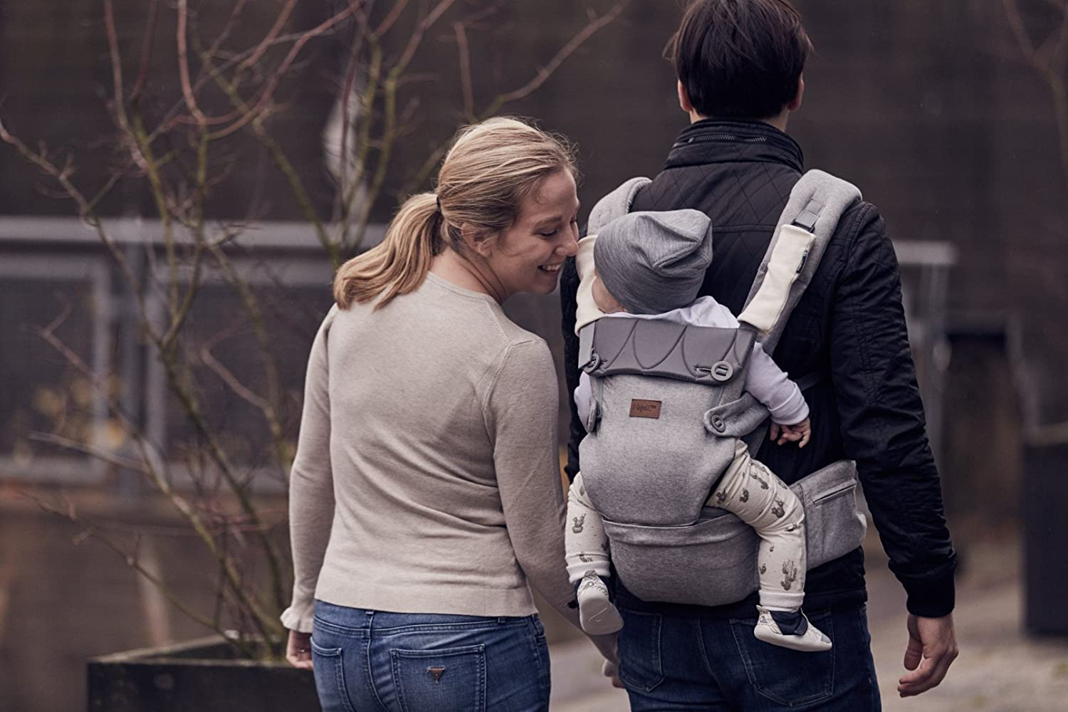 Najell Omni Original Baby Carrier with Hip Seat Morning Grey